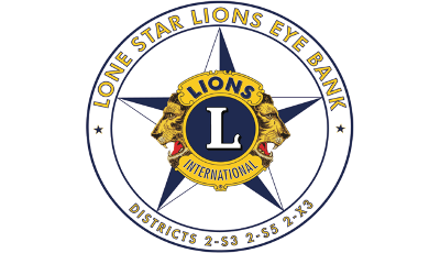 Lone Star Lions Eye Bank Logo